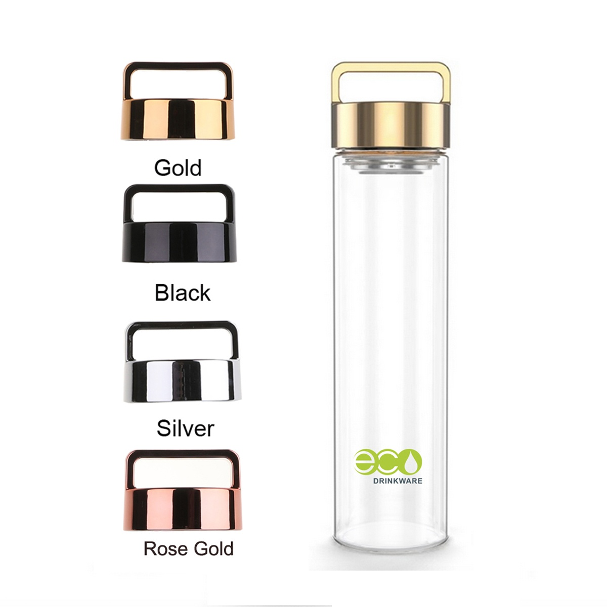 GA6085 650ml Tea Infuser Flasks Vacuum Glass Liner Water Bottles