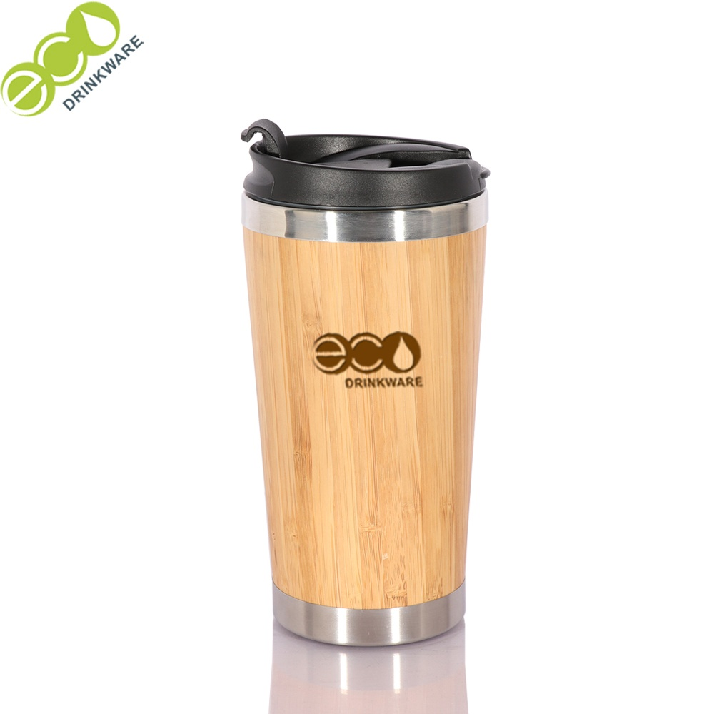 In stock Natural BPA free no mininum Stainless Steel  bamboo coffee cup