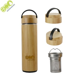 550ml GB8070 Thermal Bamboo Lid Thermos Tea Vacuum Flasks Bottle