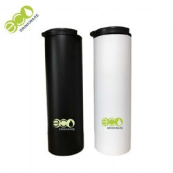 No Minimum eco-friendly travel double wall vacuum flask thermos with flip Lid