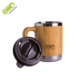 No minimum In stock Natural New reusable healthy stainless steel bamboo coffee cup