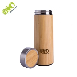 No minimum In stock Natural Stainless Steel bamboo ceramic tea Bamboo coffee cup