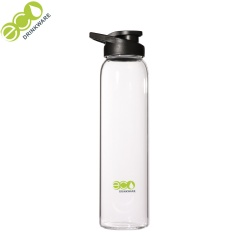 500ml/750ml/1L personalized Wholesale BPA free eco friendly easy clean single wall glass water bottle with glass tea infuser
