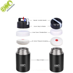 Double Wall Stainless steel lunch box container thermos food jar