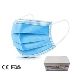 In stock 3 layer filter non woven coronavirus face mask manufacturer China